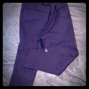 Loft straight leg patterned pants